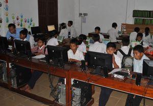computer lab in Cambodia